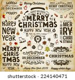christmas decoration collection ... | Shutterstock .eps vector #224140471