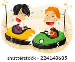 Two Boys Driving Bumper Car Fu...