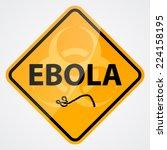 ebola bio hazard sign | Shutterstock .eps vector #224158195
