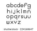 a b c font design | Shutterstock .eps vector #224168647