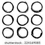circle vector texture stroke | Shutterstock .eps vector #224169085