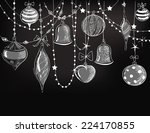 christmas ornaments | Shutterstock .eps vector #224170855