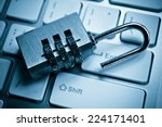 metal security lock with... | Shutterstock . vector #224171401