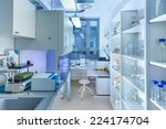 interior of modern research... | Shutterstock . vector #224174704