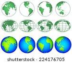 illustration of the globes... | Shutterstock .eps vector #224176705