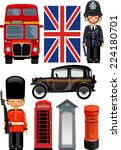a royal guard  and  british... | Shutterstock .eps vector #224180701