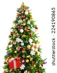 decorated christmas tree... | Shutterstock . vector #224190865