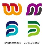 "design vector logo template. ""w""... 