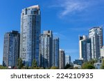 modern apartment buildings in... | Shutterstock . vector #224210935