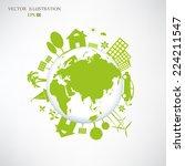 environmentally friendly world. ... | Shutterstock .eps vector #224211547