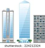 building set of sky scraper... | Shutterstock .eps vector #224212324