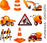 Постер, плакат: Construction equipment dump truck