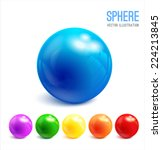 3d sphere vector illustration | Shutterstock .eps vector #224213845