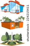set of 3 public building... | Shutterstock .eps vector #224215411