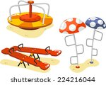 park playground equipment set... | Shutterstock .eps vector #224216044