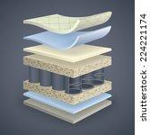 vector mattress section on... | Shutterstock .eps vector #224221174
