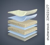 vector mattress section on...   Shutterstock .eps vector #224221177