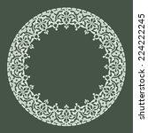 round ornament pattern | Shutterstock .eps vector #224222245