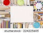 Painting Equipments Close Up A...