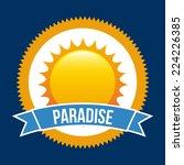 summer graphic design   vector... | Shutterstock .eps vector #224226385