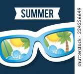 summer graphic design   vector... | Shutterstock .eps vector #224226649