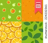 orange patterns collection... | Shutterstock .eps vector #224232361