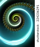 Turquoise Blue Spiral Universe...
