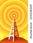 wireless technology radio tower. | Shutterstock .eps vector #224238265