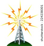 radio tower transmission icon  | Shutterstock .eps vector #224238301