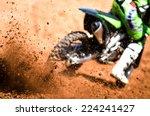Motocross Racer Accelerating I...