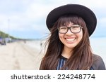 asia teenage girl with... | Shutterstock . vector #224248774