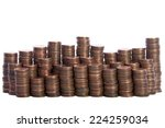 Stacks Of Old Dirty Pennies....