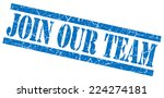 Join Our Team Blue Grungy Stamp ...
