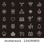 christmas icons | Shutterstock .eps vector #224290855