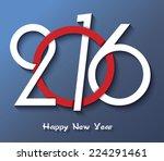 happy new year 2016 creative... | Shutterstock .eps vector #224291461