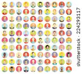 people icons set  colorful...