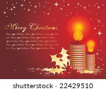 christmas balls and candles ... | Shutterstock .eps vector #22429510