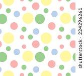 children's pattern of circles.... | Shutterstock .eps vector #224296261