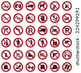 prohibitory signs | Shutterstock .eps vector #224299291