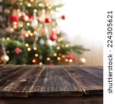 christmas table background  vol ... | Shutterstock . vector #224305621