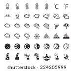 icons set   weather symbols