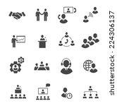 business people online meeting... | Shutterstock .eps vector #224306137