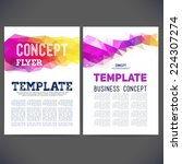 abstract vector template design ... | Shutterstock .eps vector #224307274