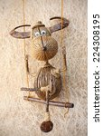 """Small photo of Chill Out. """"Cute Buffalo"""" Hand-made of suicide (body), coconut shell (horn and foot), Banana rope, branch tree and afzelia xylocapa seed (nose)"""