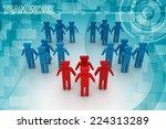 3d people   men  person in team.... | Shutterstock . vector #224313289