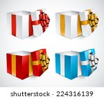 collection of 3d opened gift...   Shutterstock .eps vector #224316139