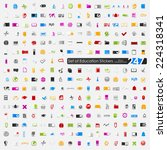 set of education stickers   Shutterstock .eps vector #224318341