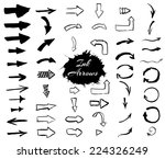 ink arrows collection. vector... | Shutterstock .eps vector #224326249