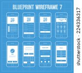 blueprint mobile app wireframe...