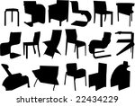 furniture | Shutterstock .eps vector #22434229